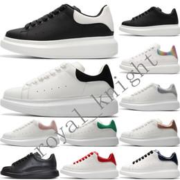 sapata nova do esporte cr7 Desconto 2020 MQ Veludo Branco Womens 3M reflexiva Designer Sneakers Mens Lace Up Plataforma Casual Luxury Shoes Cores sólidas Formadores Chaussures Shoe