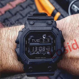 große zifferblatt uhren Rabatt Dropshipping 2019 Herrenuhren Uhr Multifunktions Military Alarm Uhren Big Square Dial LED Digital G Style Herren Armband Armbanduhren