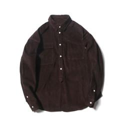 Новая мода Ретро простые вельветовые мужские рубашки мужские случайные свободные дикие рубашки весна осень Толстый Повседневная с длинным рукавом мужчин от