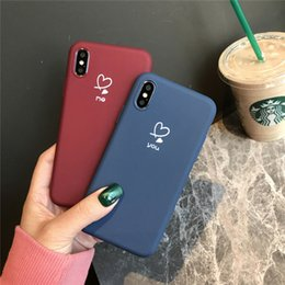 2019 handy-slip-fall Iphone 6 7 8 plus paar liebe silikon handy case rutschfeste matte rückseitige abdeckung phone case für iphone xr xc billig rabatt handy-slip-fall