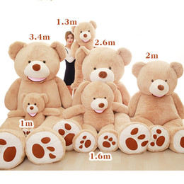 Tv garota americana on-line-Atacado Teddy Bear Enorme 93 polegadas Urso Gigante Americano Urso de Pelúcia Casaco de Boa Qualidade Preço Factual Brinquedos Macios para Meninas 80-340