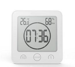 medidor de temperatura de cocina Rebajas LCD relojes de pared digitales de temperatura Medidor de humedad relativa del reloj de pared Baño Ducha succión Cuenta atrás Cocina Baño temporizador de alarma 5 Color