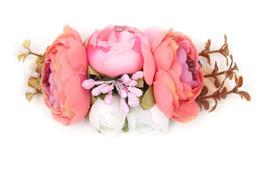 Argentina Diadema con flores artificiales para niños de Europa y Estados Unidos. Cabello de bebé. Guirnalda. Cabello para vacaciones junto al mar con accesorios de fotos. Suministro