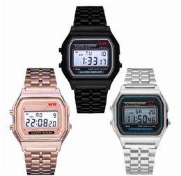 новые часы-шпионы Скидка F91 W спортивные часы F-91 W стальной пояс из тонких электронных часов F91W A159w часы
