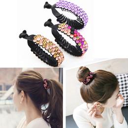 Hot Hair Accessories Women Hair Claws Headwear Rhinestone Crystal Hairpin  Bird Nest Floral Twist Comb Hair Clip 2b705983505f