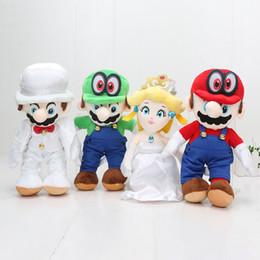 Toptan 25 cm Süper Mario Bros Odyssey Cappy Şeftali Prenses Peluş Oyuncak Dolması Doll mario ve şeftali düğün Dolması oyuncaklar nereden