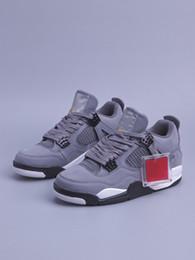 Chaussures hommes 48 en Ligne-Grand Taille Hommes Chaussures De Basket-ball 4 4s Cool Crey Daim Chaussures De Sport En Plein Air IV Mâle Casual Chaussures de Sport Taille 40-48