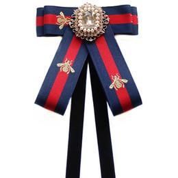 2019 großhandel gestreifte krawatten für männer Frauen bowties Mädchen-Hals-Bindung für College Student Bank Hotel Staff Bow Tie Multi-Use-Schmetterling mit Band Hemd Zubehör