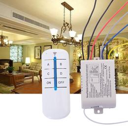 Sem fio desligar a luz on-line-Interruptor de Controle Remoto Sem Fio Digital de 4 Lâmpadas de Luz ON / OFF 220V