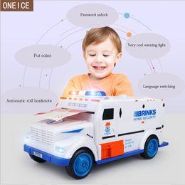 7 lcd monitor Promotion Mot de passe numérique clair tirelire électronique LCD moniteur enfant voiture jouet coin box électronique coffre-fort enfant boîte cadeau