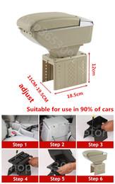 2020 espacio de almacenamiento de coche LUJO + caja de reposabrazos de almacenamiento 7 USB con soporte de vaso reposabrazos central SPACE BIG + USB LED para UNIVERSAL FIT PARA TODOS CAR rebajas espacio de almacenamiento de coche
