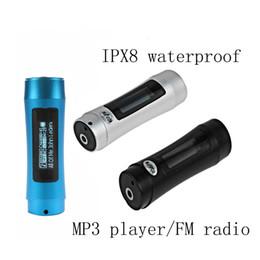ipx8 водонепроницаемый 8gb mp3-плеер Скидка IPX8 Водонепроницаемый MP3-плеер 4G / 8GB FM-радио Дайвинг Плавание Серфинг Подводный спорт mp3 Музыкальный плеер