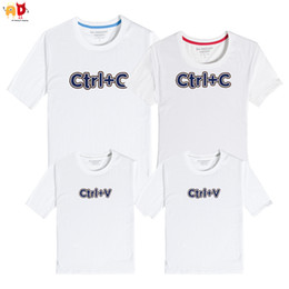 f997d9e8 good quality 1PCS Ctrl+C Mother Father Ctrl+V Son and Daughter Summer T- shirts Cotton Family Matching Clothing Kids Clothes