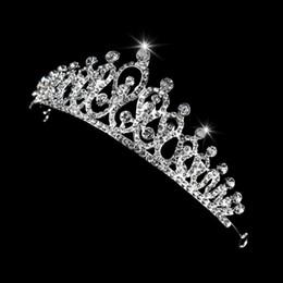 ornements de princesse Promotion Mariée couronne mariage strass ornement de cheveux diadème floral luxe princesse reine w2952001
