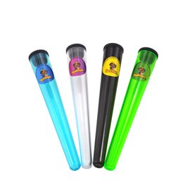 Sigilli di tubo online-Tubo di plastica King Size Stash Jar Impermeabile sigillante ermetico Contenitore di immagazzinaggio di erbe Contenitore Cigarette Rolling Cono Tubo di carta Scatola della pillola