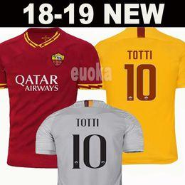Roma maillot de football en Ligne-Nouveaux maillots de football 2020 DZEKO PEROTTI PASTORE ZANIOLO Rome 2019 Maillot TOTTI 19/20 Maillot DE ROSSI JESUS comme maillot de foot roma