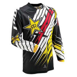 Uomini caldi di vendita di trasporto libero Motocross MX jersey Mountain Bike DH Vestiti Bicicletta Ciclismo MTB BMX Jersey Moto Cross Country camicie CN da ciclo bmx fornitori