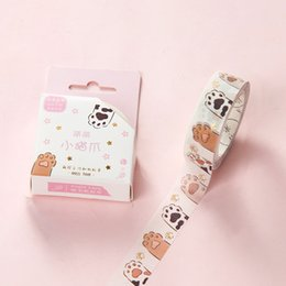 Adesivi nastro carino online-1PC simpatico gatto nastro, rosa fioretto Cherry Blossom nastro floreale fiore Washi Tape, griglia Scrapbook Supplies adesivi Scrapbooking 2016