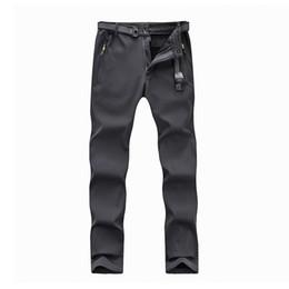 hombres abajo de los pantalones Rebajas Clorts Calientes Pantalones Senderismo Hombres Vellón Caza Pantalones Softshell Al Aire Libre Impermeable Abajo A Prueba de Viento Invierno Hombres Deportes