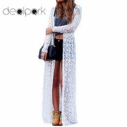 2019 más tamaño maxi cardigans XXXXXL Mujeres prendas de vestir exteriores Floral Encaje Kimono Talla grande Elegante Playa Cover Up Cardigan Casual suelta blusa de encaje larga Maxi Sexy más tamaño maxi cardigans baratos
