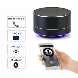 Metal Bluetooth Hoparlör Subwoofer Kablosuz Hoparlörler Stereo Taşınabilir Hoparlörler TF Kart USB Portu Mini LED Işık Hoparlör cheap bluetooth ports nereden bluetooth bağlantı noktası tedarikçiler