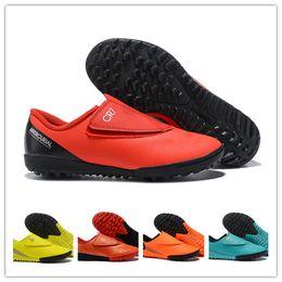 Enfants de bébé CR7 Chaussures de football Bottes de football Enfants garçon filles Mercurial Superfly Cristiano Ronaldo ? partir de fabricateur