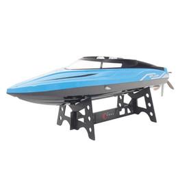 Canada 2.4GHz 4CH Mini Bateau de course Bateau de bateau à moteur bateau enfants Jouets w / Système d'alarme de puissance Fonction d'alarme de puissance faible pour Kid Toys cadeau cheap speedboat toys Offre