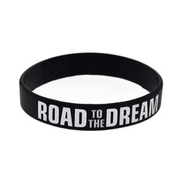 Дорога к мечте Мотивационный браслет Чернила с логотипом Силиконовая резинка Эластичные браслеты Ювелирные изделия Вдохновляющие браслеты Браслет от