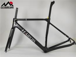 2019 bicicleta de fibra de carbono preta fosca LEADXUS LAM200 Quadro de Carbono Super Leve T800 Fibra De Carbono Estrada Quadro de Bicicleta Brilhante Bicicleta Fina Quadro de Carbono Tamanho XS, S, M, L