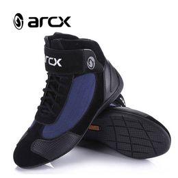 ARCX Motosiklet Sürme Nefes Çizmeler Moto Koruma Motosiklet Biker Erkekler ve Kadınlar için Touring Ayakkabı Moto Çizmeler L60053 nereden