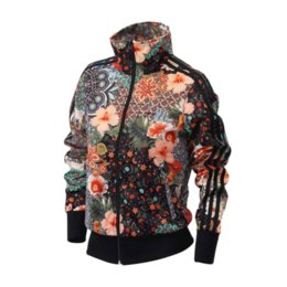2881cf83ce Women Designer Printed Jackets Brand Women Jackets Slim New Arrival Womens  Jacket Flower Print Streetwear Jackets Size XS-XL