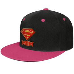 superman prints Coupons - Superman Super Mom DC Comics for Mother's Day for men and women flat brim hats Rose red snapback design custom hats custom kids make your ow