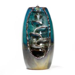 Forni in ceramica online-Bruciatore di incenso della torretta di riflusso Incenso domestico di ceramica Ceramica di aromaterapia dell'odore di odore Titolare di incenso dell'artigianato stradale aromatico