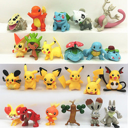 dolls sonic Promo Codes - 23pc lot Pokemons Action Figure Toys 5cm Pikachu Doll Decoration Children's Birthday Gift Anime Toy Puppets Gifts for Children