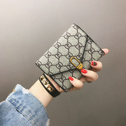 2019 bolsa para carteira senhoras Designer de moda bolsas para as mulheres xadrez curto carteiras de couro das senhoras titular do cartão de crédito bolsa de moedas casuais frete grátis bolsa para carteira senhoras barato