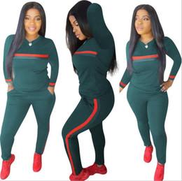 Deutschland Streifen Trainingsanzüge 2-teiliges Set Frau Tops Sweatshirt Lange Hosen Taschen Club Anzüge Overalls Outfit cheap club outfits Versorgung