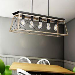 2019 luz de teto pendente cool Modern Metal Lustres Retangular Pendurado Iluminação para Sala de estar Sala de Jantar Restaurante Do Hotel Lustre de Suspensão