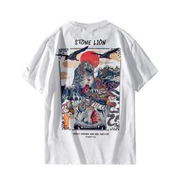 Steint-shirts online-2019 harajuku t-shirt männer hip hop t-shirt stein löwe chinesische streetwear sommer t-shirts kurzarm baumwolle tops tees hipster neue