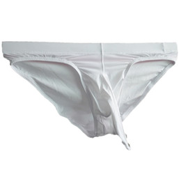 c0c2ec756b4cce M-XXL Translucent Sexy Mens Penis Underwear Ice Silk Ultra-thin Men's  Elephant Nose Briefs Jockstrap Gay Cueca