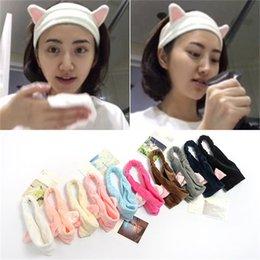 haar schlägt stirnband Rabatt Koreanische Version des Katzenohren Haarband Make-up wash Haarband setzt Sportstirnband Pony Handtuch Stirnband Großhandel