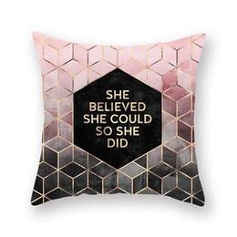 2019 pêssegos de ouro Ins estilo nórdico rosa ouro travesseiro pêssego cashmere caso almofada jogar almofada travesseiro almofadas de luxo almofadas capa de almofada fronha