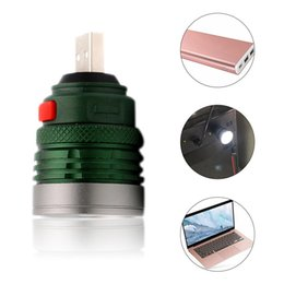 aa batería cree led Rebajas Mini USB Linterna LED Luz de flash Linterna de carga portátil USB Luz de computadora Lámpara de lectura de 3 modos Verde del ejército