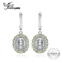 1587faffa13b JewelryPalace Vintage 2.4ct Natural Verde Amatista Peridot Pendientes de  Clip 925 Plata Esterlina Moda Mujeres Boda Joyería Fina