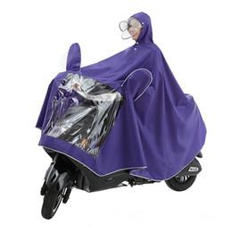 Bicicleta impermeable online-Impermeable doble sombrero cornisa impermeable bicicleta motocicleta cinturón lluvia coche eléctrico 042