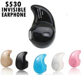 écouteurs bluetooth pour petites oreilles Promotion Ecouteurs intra-auriculaires sans fil Bluetooth Ultra-Small S530 Bluetooth V4.0 avec boîte de vente kaki sur bacca