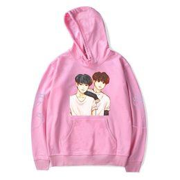 immagini di hoodies Sconti BTS K-pop amare se stessi Bangtan Boys Rimani Immagine Jimin V con cappuccio Felpe con cappuccio casuale di Hip-hop di personalità Idol Abbigliamento