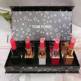 Губы брутто онлайн-ГОРЯЧАЯ распродажа Tom Ford матовая губная помада 5 шт. В 1 наборе Lip Gross rouge à lèvres Lipgloss Lipsticks Maquillage