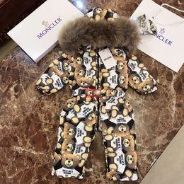 2019 bär kinder jacken Baby Daunenjacke Kinder Designer Kleidung Winter neue Baby Daunenoverall Bär Design Gänsedaunen Feder gefüllten Overall günstig bär kinder jacken