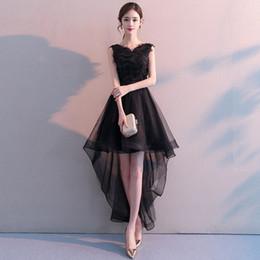 Robe de soirée noire 2019 nouveau style élégant mince avant peu après les longues dames robe de soirée robe ? partir de fabricateur