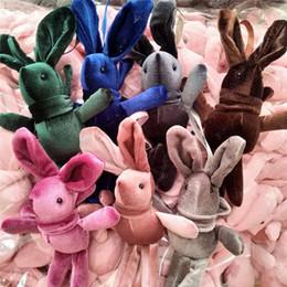 gefüllte osterhasen Rabatt 2019 Ostern Wishing Kaninchen Anhänger Plüsch Puppe Spielzeug Tier Gefüllte Lange Beine Bunny Anhänger für Rucksack Tasche Kaninchen Schlüsselanhänger Kinder Geschenk